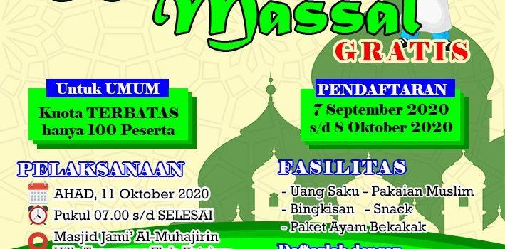Khitanan Massal Masjid Jami' Al Muhajirin