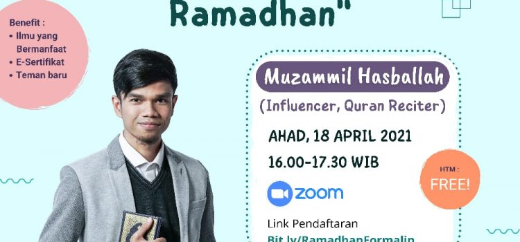 Formal-In Proudly Present Webinar Festival Ramadhan
